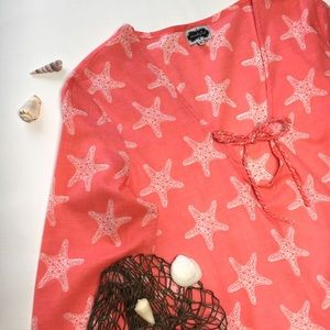 Mud Pie Starfish Swim Coverup, sz M